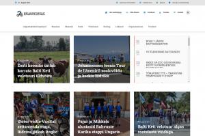 Eesti Jalgratturite Liidu kodulehekülg